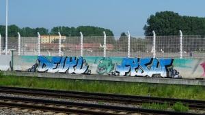 Teufelsfisch-Graffiti