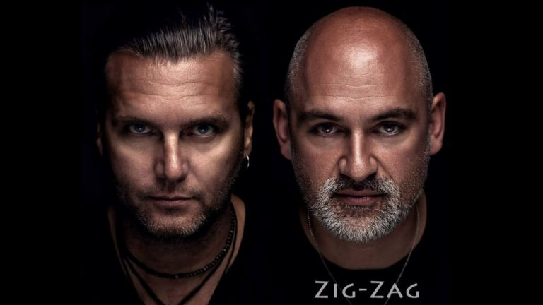 Das Musikduo Zig-Zag als Doppelportrait.